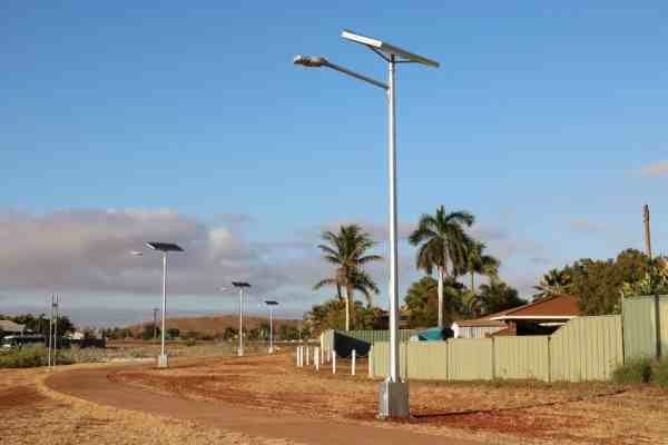 solar powered street lights in Karratha Wa