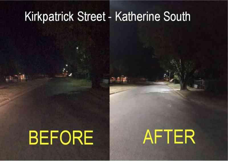 street lighting katherine