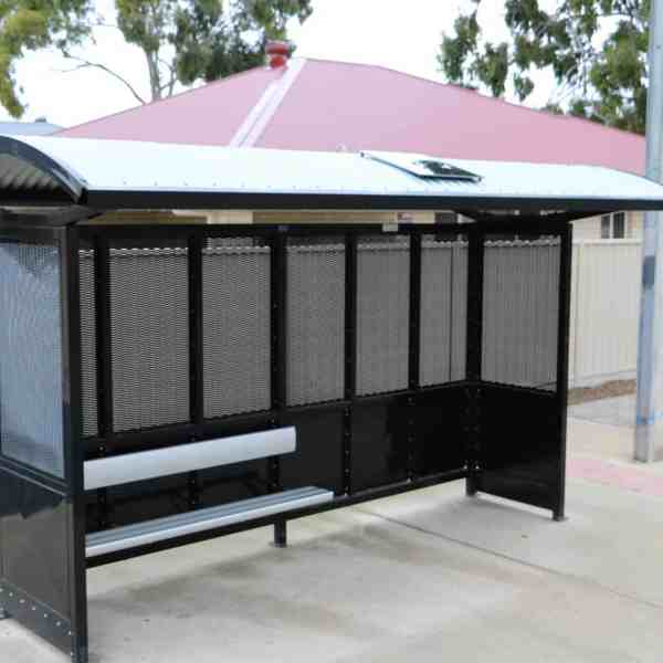 solar shelter light bus stop