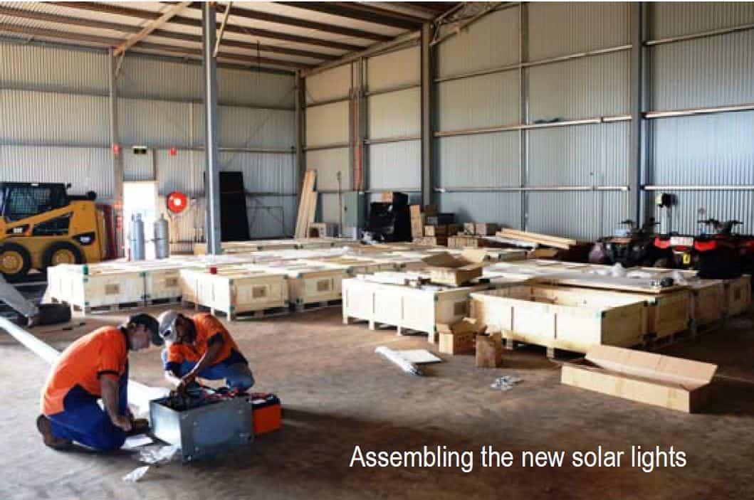 solar light assembly Roper Gulf