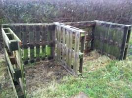built a manure compost area