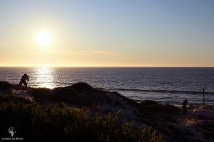 Sunset over the Atlantic Ocean Rocherpan