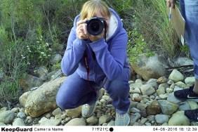 Camera trap selfie at Gondwana Game Reserve, Mosselbay