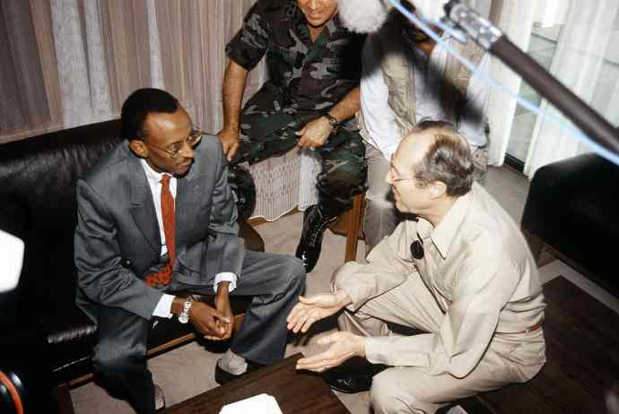 Rwanda Genocide- Vice President Kagame with United States Secretary of Defense William Perry in July 1994