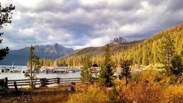Redfish Lake in Sawtooth National Forest