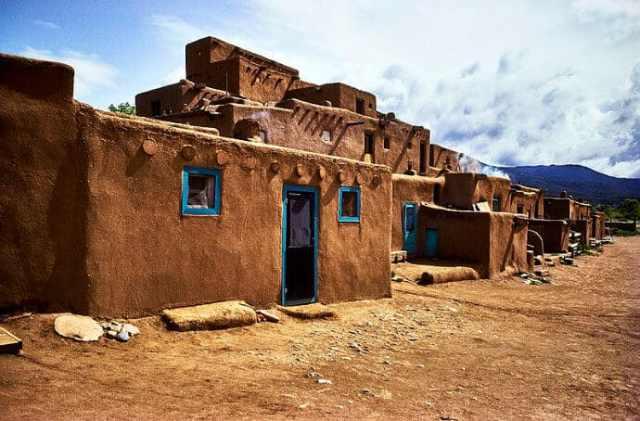 Taos Pueblo residential complex shows the Pueblo culture that UNESCO World Heritage protects