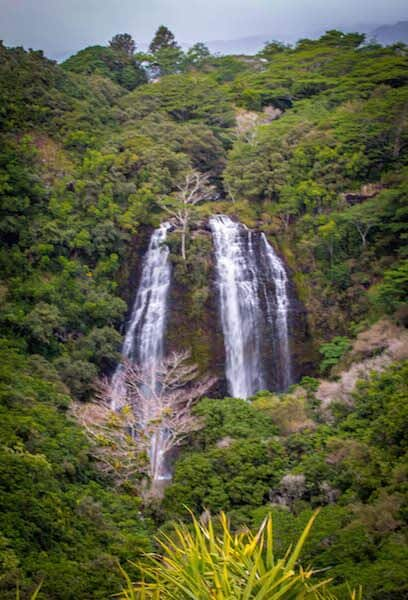 Opaekaa Falls in Kauai, Hawaii