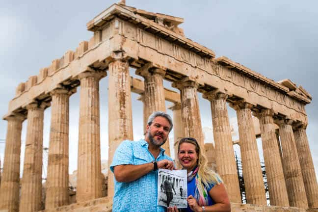 Bret Love & Mary Gabbett at the Acropolis of Athens