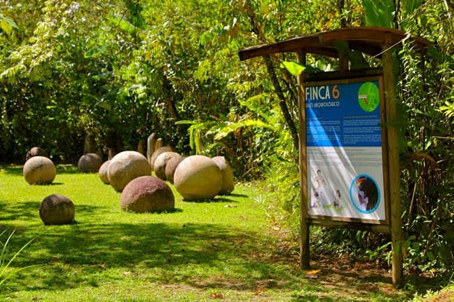 Stone Spheres at Finca 6 Archaeological Site in Palmar Sur, Costa Rica