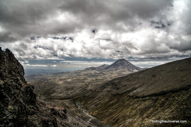 View of Mount Ngauruhoe from Ruapehu, New-Zealand