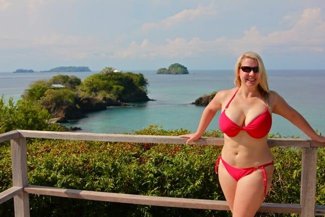Sunbathing at Islas Secas, Panama