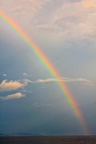 Rainbow over the Pacific Ocean, Panama