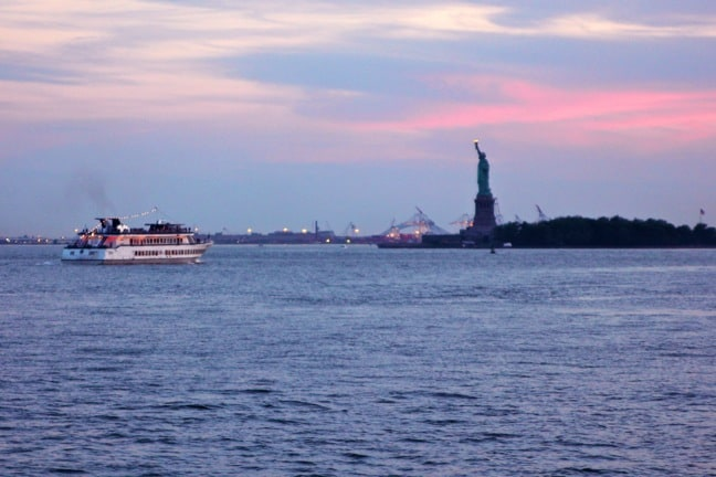 Statue of Liberty at Sunset on the Circle Line Cruise