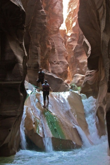 Climbing Waterfalls in Wadi Mujib, Jordan