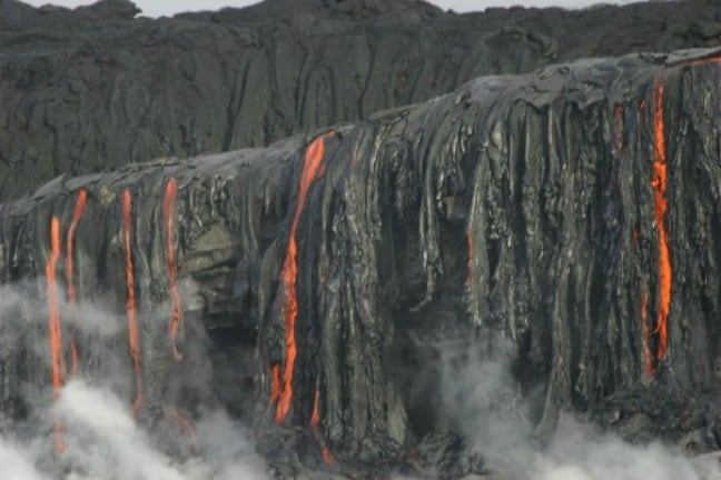 Lava flow from Kilauea on Hawaii's Big Island