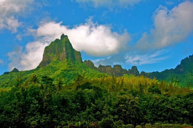 Mount Tohivea, a.k.a. Bali Hai Mountain, Tahiti