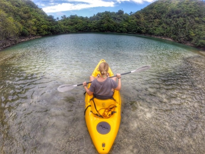 Philippine Island of Danjugan - Kayaking Lagoon n.1