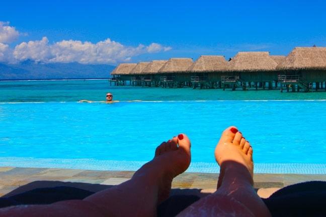 View from the Pool at the Sofitel Moorea la Ora, Tahiti