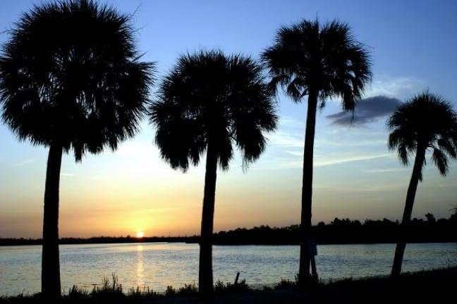 Sunset at Ding Darling National Wildlife Refuge on Sanibel Island, Florida