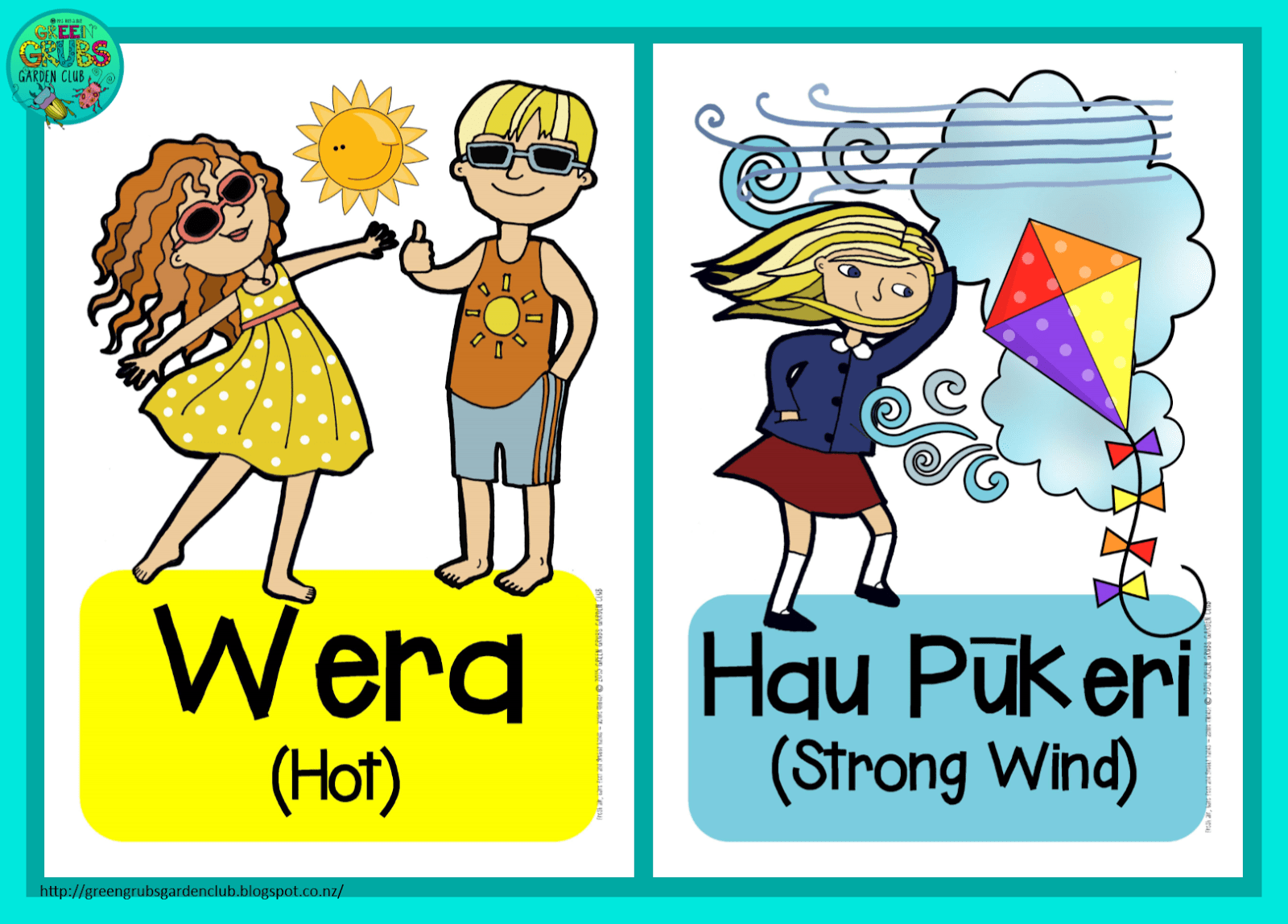 Weather Cards In Te Reo Maori English Free Printables