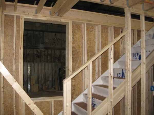 Framing Exterior Wall Stair