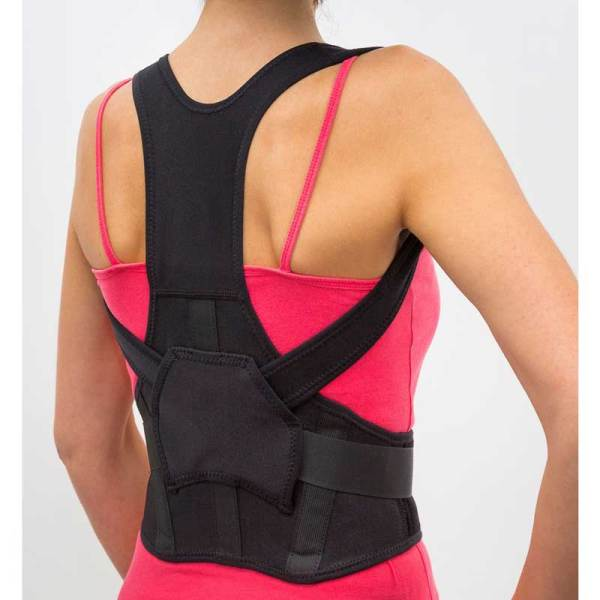 Posture Support Brace Black – Green Healing