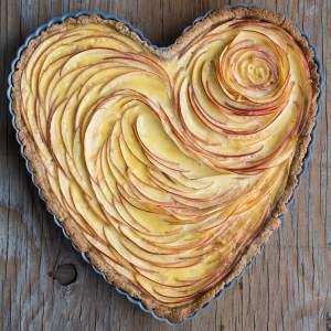 Valentine's Apple Rose Tart Ready Baked