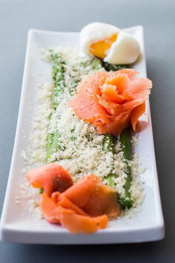 Parmesan Asparagus with Smoked Salmon 2