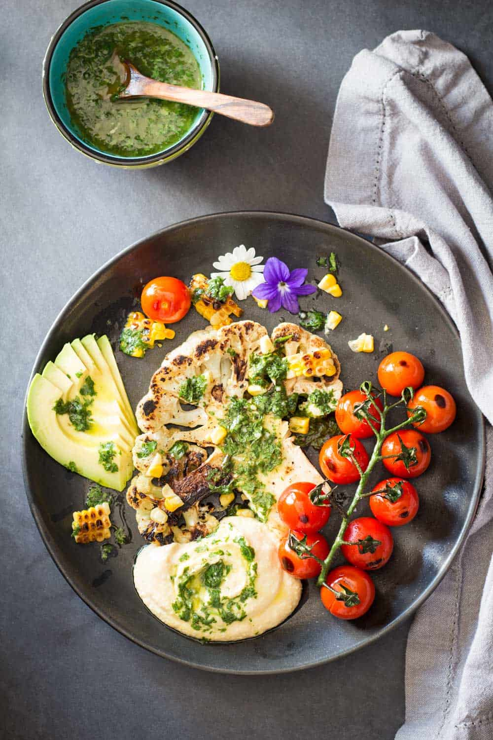 Let the vegan grilling season begin! BBQs are not just for carnivores. Here is healthy and delicious vegan recipe for you: Grilled Cauliflower Steak!