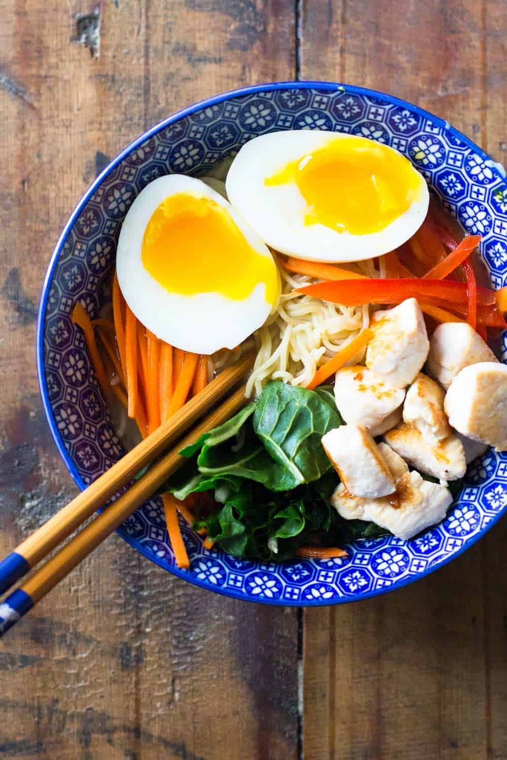You're *this* close to ordering unhealthy take-out? STOP! I have a healthy alternative for you: 15-Minute Chicken Ramen Soup.
