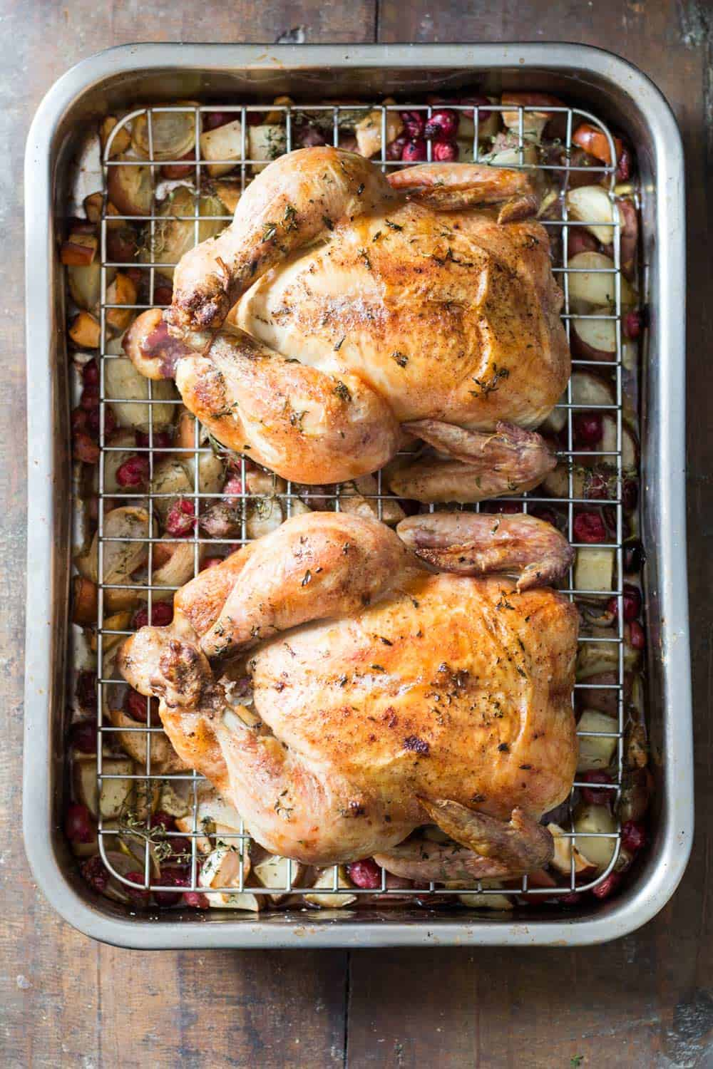 A great alternative to turkey during the holidays is Two Whole Roasted Chickens. Spoil and impress your guests with a quick and easy but tasty recipe.