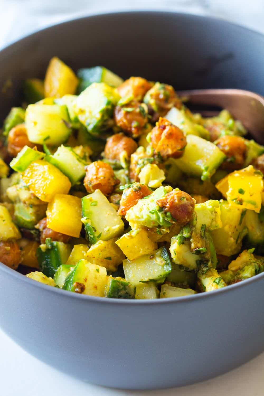 Cucumber Avocado Salad - Green Healthy Cooking