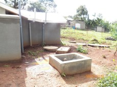 Latrine seen from the back