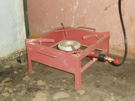 Biogas stove (side view)