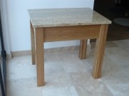 Solid oak table with Kashmir gold granite worktop