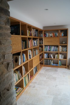 Oak shelving