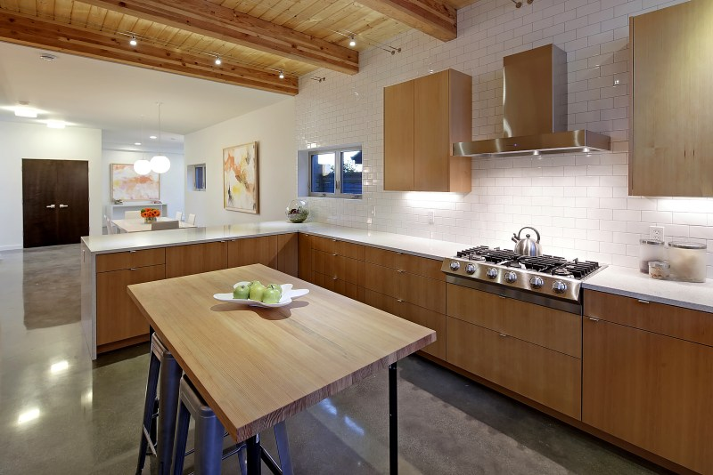 kitchen composed of reclaimed wood and honest materials