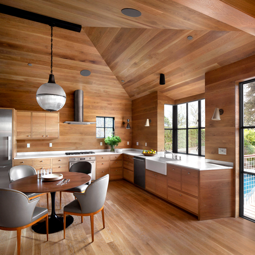 The LEED Platinum House for an Artist offers a multitude of healthful features, using honest materials devoid of toxicity and products to avoid electric magnetic fields.