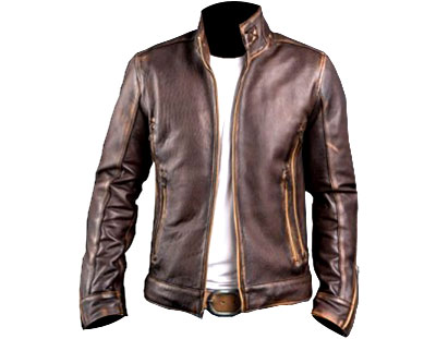 Leather Jacket Coffee