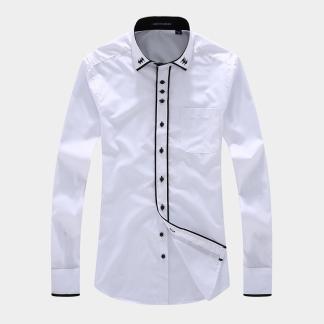 Business Striped Shirt (White)