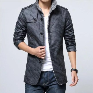 Casual Inner Cotton Jacket (Grey)