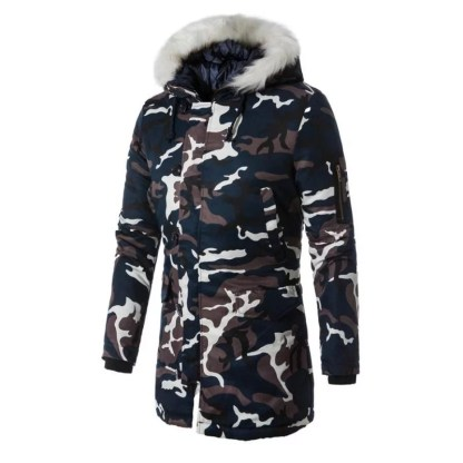Fur Hooded Army Jacket available in 2 colors