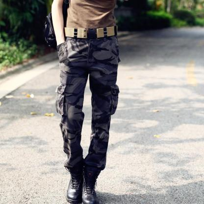 Multi-Pocket Cargo Pants available in 2 colors