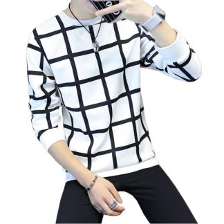 Plaid Sweatshirt available in 2 colors