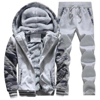 Warm Camouflage Sweatshirt + Pant Tracksuit