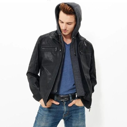 Double Closure Leather Jacket available in 2 colors