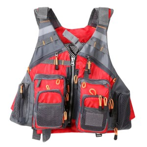 Adjustable Fishing Hunting Vest Red