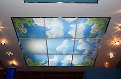 Фотопанели в интерьере - Оформление потолка