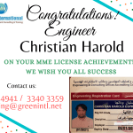 Congratulations to Engineers who have Obtained MME Engineer Registration Card from Aug 2020 – Jan 2021