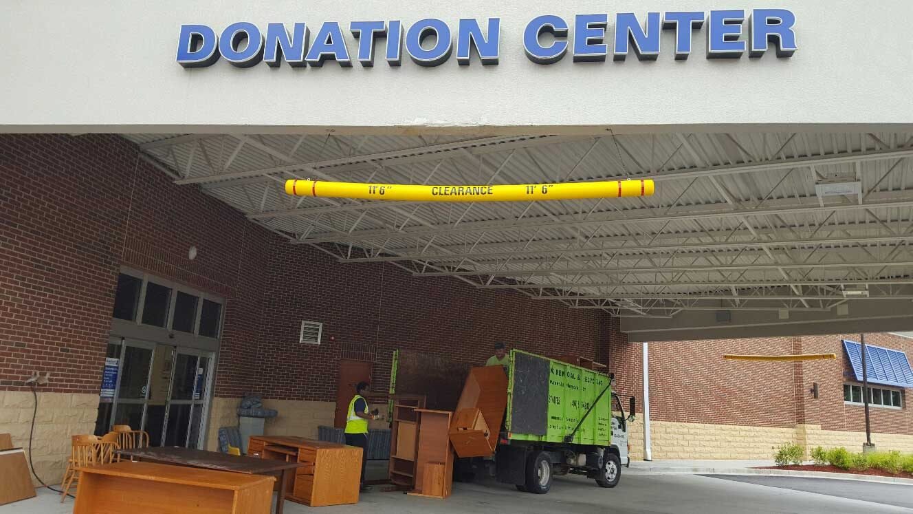 furniture unloading to donation center